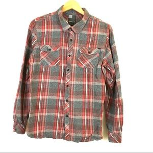O'Neill flannel shirt red grey heavyweight holiday